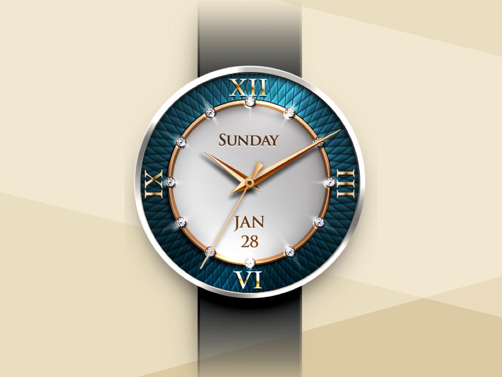 Smartwatch watch face photoshop art 錶 diamond photoshop design vector illustration smartwatch ui