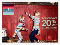 Gap Europe Holiday Box Stuffer