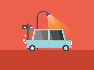 Car illustration icon design graphic trafic street flar car illustration