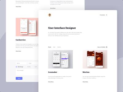 My Portfolio portfolio design portfolio typography light branding white web ux ui minimal design