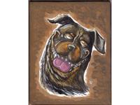 Acrylic Rottweiler