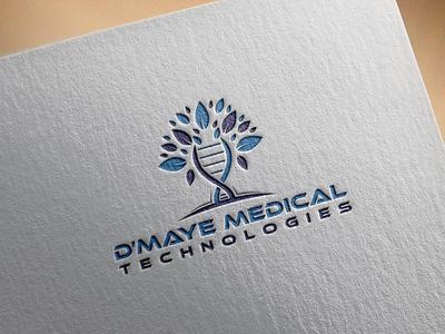 Medical Technologies LOGO animation illustrator clean logo illustration design typography graphic design branding medical technologies