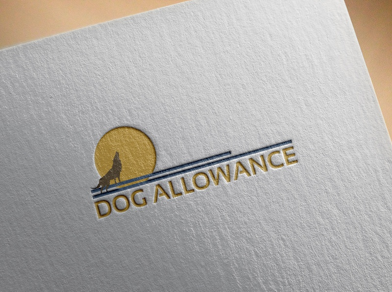 DOG ALLOWANCE LOGO clean logo illustration design typography graphic design branding dog lover dog logo design dog food doggy dog logo dog