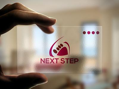 Next Step stationary logodesing stationary design typography graphic design icon vector design illustration logo branding