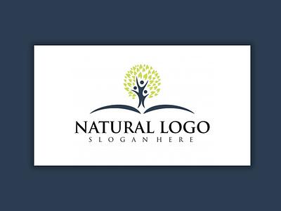 Natural LOGO stationary logodesing stationary design illustrator logo illustration design typography graphic design branding natural logo