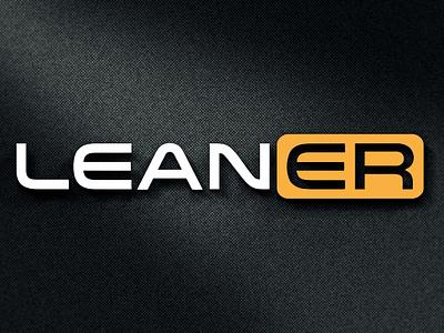 LEANER LOGO stationary logodesing illustrator logo clean illustration design typography graphic design branding leaner logo leaner logo