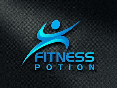 FITNESS POTION LOGO stationary logodesing business card businesscard stationary design clean logo design typography graphic design branding fitness potion fitness potion