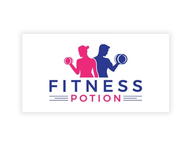 FITNESS POTION stationary logodesing businesscard stationary design logo clean design typography graphic design branding fitness potion
