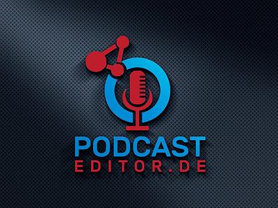 PODCAST EDITOR LOGO stationary design illustrator clean logo design illustration typography graphic design branding podcast art podcast editor logo podcast editor logo