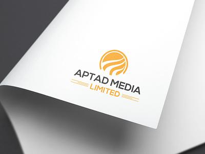 APTAD MEDIA LIMITED stationary design businesscard design logo clean typography branding graphic design logodesign media logo aptad media aptad media
