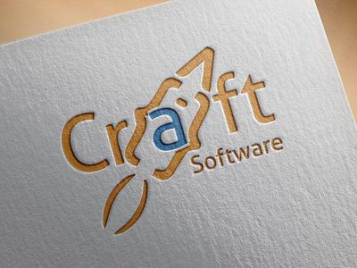 Craft Software Logo stationary logodesing businesscard stationary design design illustration typography graphic design branding craft software craft software craft software logo craft software logo
