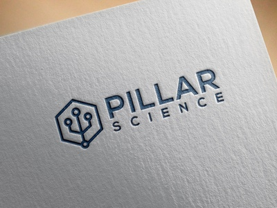 PILLAR LOGO businesscard business card stationary logodesing logo clean illustration design typography graphic design branding pillar logo