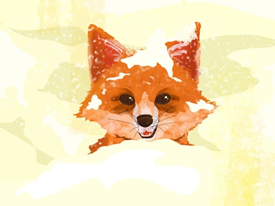 Winter fun snow winter art illustrationart wacom illustration digital painting digitalart fox