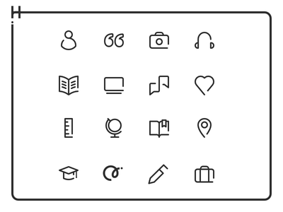 Hinge Icon Set and Style design dating app mobile icons hinge