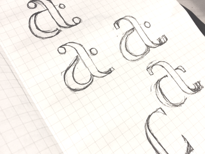 New Logo Sketches - WIP t a monogram lettering letterform sketching logo