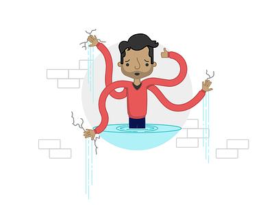 Maintenance Page Illustration water error maintenance web illustration