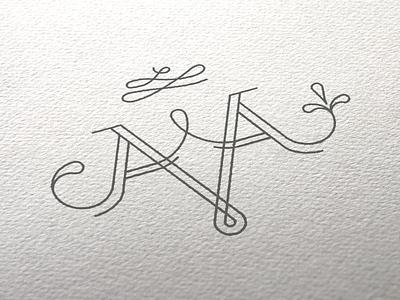 Wedding Monogram identity branding aa wedding logo monogram