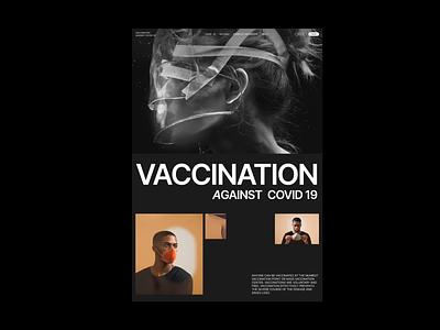 Vaccination Against COVID-19 vaccination vaccine health coronavirus corona facemask virus covid19 typography design typography website design web website grid promo ui design branding ux