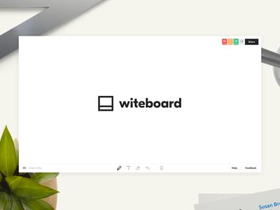 Witeboard tablet design tool drawing mobile web frictionless whiteboard
