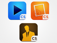 A few iOS Icons for a suite of Apps