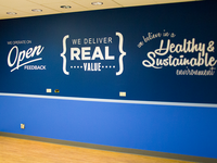 ClearSlide Company Value Wall