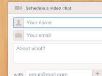 Schedule a video chat
