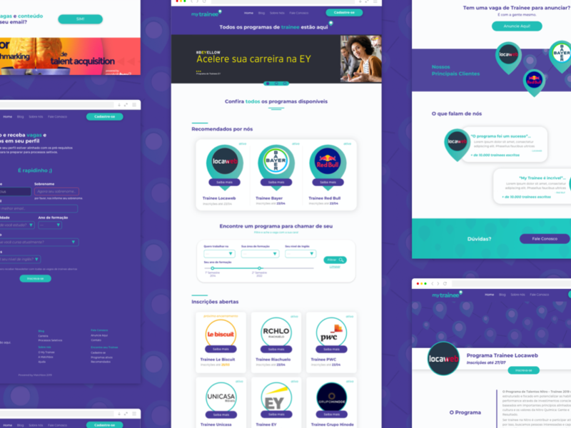 My trainee ui design layout design website web ux design ux uidesign ui uiux