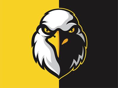 Eagles Mascot earth predator falcon bird eyes beak eagle icon typography design vector branding illustration mascot illustrator sports logo logo