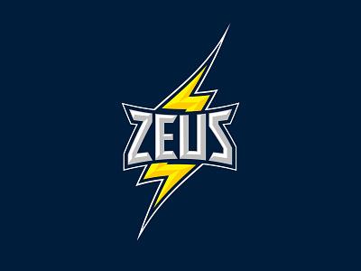 Zeus illustration logotype mark brand identity brand branding logo america bevel beveled photoshop illustrator thunder storm jupiter gods greek shock lightning zeus