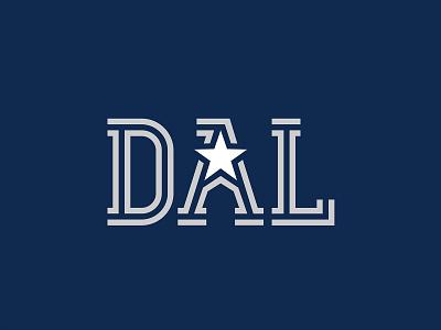 DAL hockey football lonestar logotype tshirt shirt silver blue branding design branding logo texas stars star cowboys