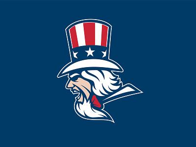 Uncle Sam Logo vector illustrator illustration mascot unc july 4th goatee hat independence freedom sports branding branding sports logo logo american america usa