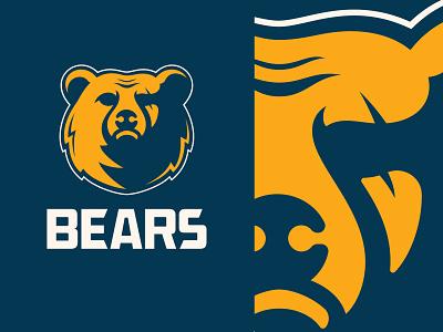 Bears Mascot illustrator nfl branding logo chicago baylor team football mascot character vector sports logo mascot