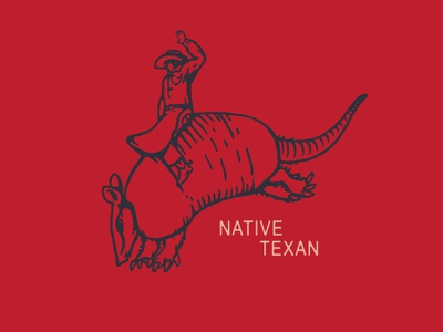 Native Texan cowboy hat chaps spurs native texan armadillo cowboy texas