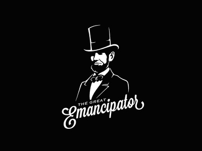 The Great Emancipator black and white abraham top hat hat emancipate president lincoln