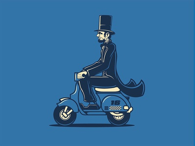 Lincoln Rides a Scooter