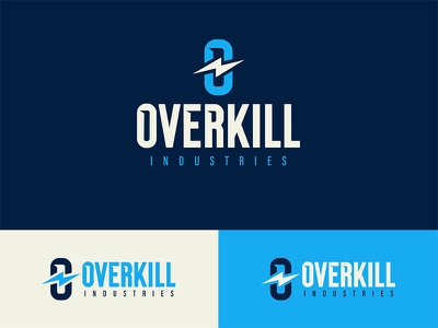 Overkill orange channel youtube bolt lightning blue industry industries logo overkill