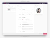 Renaizant • User Profile Settings