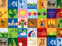 Adams County Geometric Icon Patter