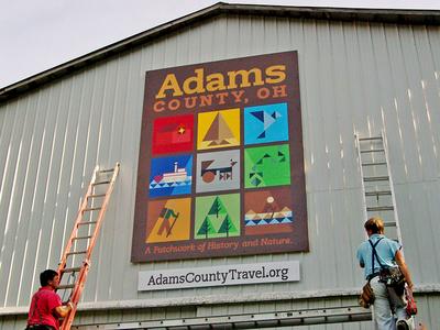 Adams County Logo and Mural geometry mural