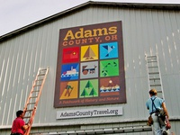 Adams County Logo and Mural