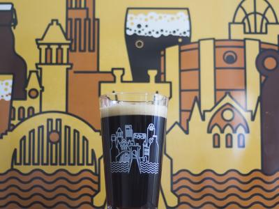 Cincy Beer City pint glasses beer