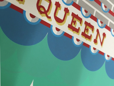 In-Progress detail 3, Delta Queen screenprinting illustration art print