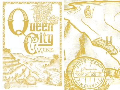 Queen City Wine Poster