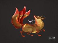 Fox. Animal character design. kitsune. 2D art procreate red fox fantasy digital painting digital art cute art digital illustration foxy fox tail fox illustration 2d art 2d animak art animal fox art kitsune fox artwork