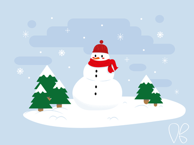 Snowman simple design cs6 winter snowflake snowman vector simple design illustration