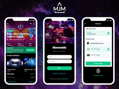 App UI - MJM Ticket Store