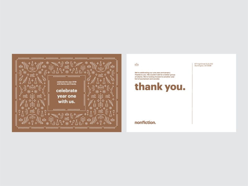 Nonfiction Postcard promotional postcard graphic design