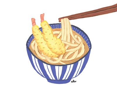 Udon food design paint food illustration