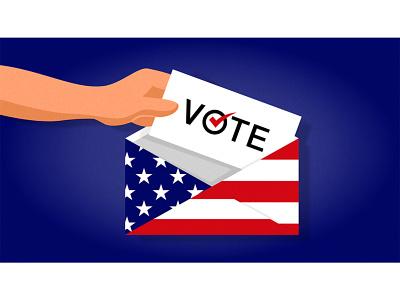 US election - Postal voting us election design editorial illustration illustration