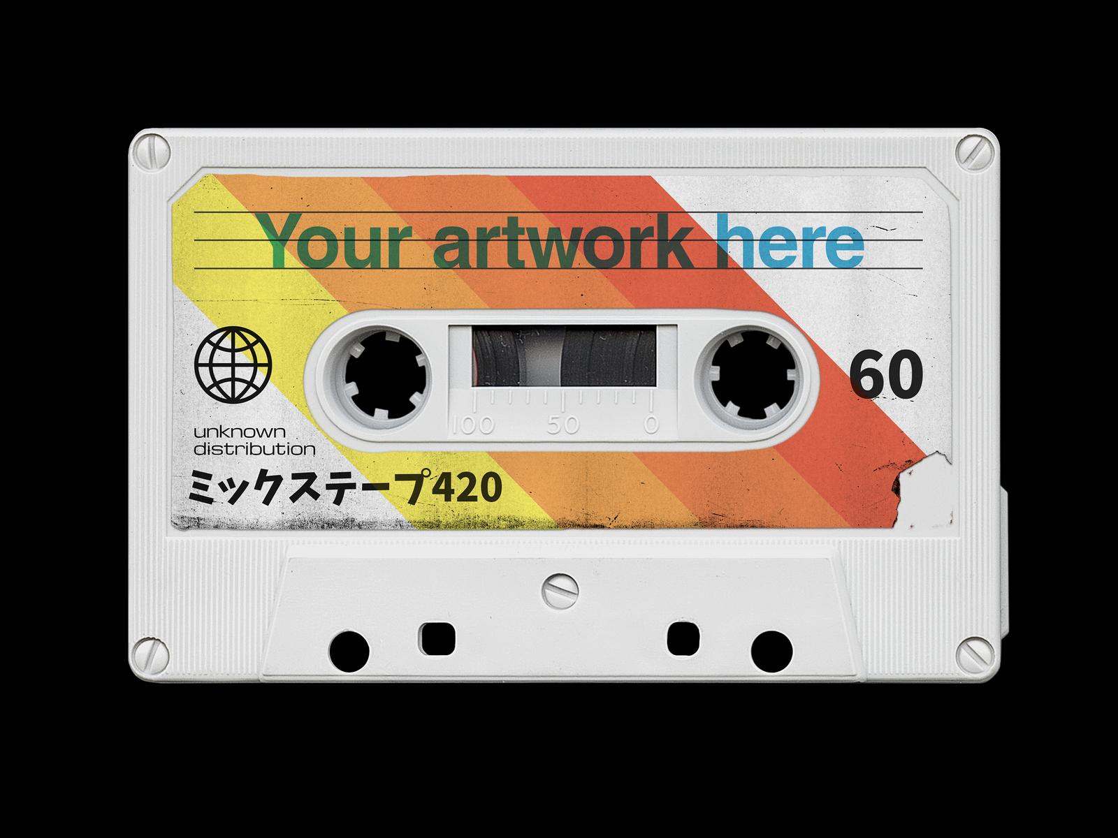 Vintage Cassette Tape Mockup by Dominik Schneider on Dribbble